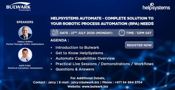 HelpSystems Automate Webinar – 27th July 2020